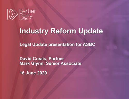 Industry Reform Update