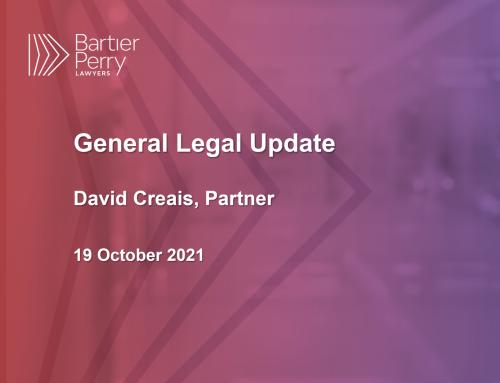 Legal Update October 2021
